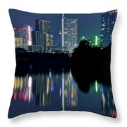 Austin Reflects In Ladybird Lake Throw Pillow