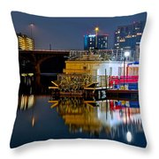 Austin River Boat Throw Pillow