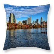 Austin Skyline From Lou Neff Point Throw Pillow