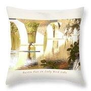 Austin Texas - Lady Bird Lake - Mid November Three - Greeting Card Throw Pillow by Felipe Adan Lerma
