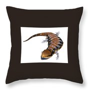 Australia Blue-tongued Skink Throw Pillow