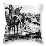 Australia: Cowboys, 1864 Throw Pillow