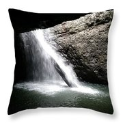 Australia - Welcome To Natural Arch Waterfall Throw Pillow