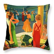 Australia, Romantic Night, Dance And Music, Hotel Terrace Throw Pillow