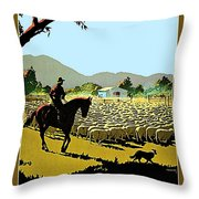 Australia, Shepherd Throw Pillow