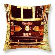 Australia Travel Tram Map Throw Pillow