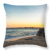 Australian Beach Sunset Throw Pillow