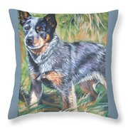 Australian Cattle Dog 1 Throw Pillow by Lee Ann Shepard