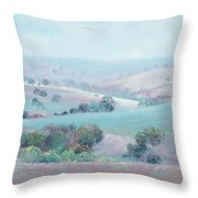 Australian Country Landscape Painting Throw Pillow