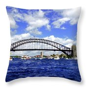 Australian Day Is A Party Day On Sydney Harbour  Throw Pillow