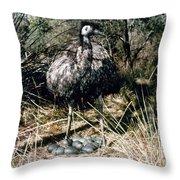 Australian Emu Throw Pillow