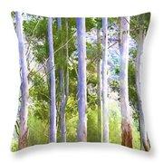 Australian Gum Trees Throw Pillow