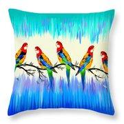 Australian Joy Throw Pillow
