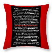 Australian Music Scene 1970's No 11 Throw Pillow