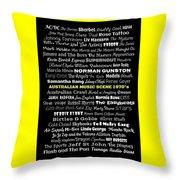 Australian Music Scene 1970's No 8 Throw Pillow