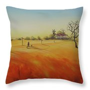 Australian Outback Painting The Way Home  Throw Pillow