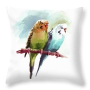 Australian Parrots 03 Throw Pillow