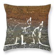 Australian Red Kangaroos Throw Pillow