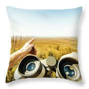 Australian Safari Throw Pillow