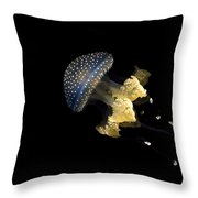 Australian Spotted Jellyfish Throw Pillow