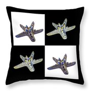 Australian Starfish Composite Design Throw Pillow