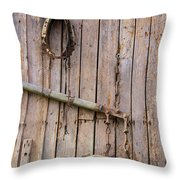 Austrian Barn Door Throw Pillow