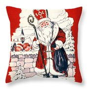 Austrian Christmas Card Throw Pillow