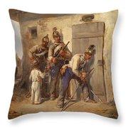 Austrian Dragoons Throw Pillow