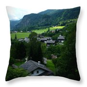Austrian Landscape Throw Pillow