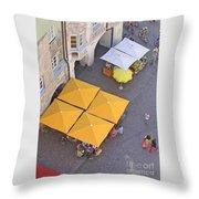 Austrian Street Scene Throw Pillow