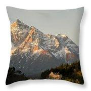 Austrian Sunrise Throw Pillow by Denise Darby