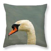 Austrian White Swan Throw Pillow