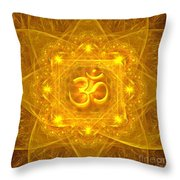 Authentic Om  Throw Pillow