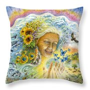 Great Mother Throw Pillow