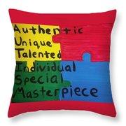 Autism Art Throw Pillow