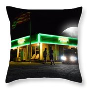 Auto Shop Throw Pillow