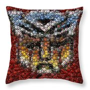 Autobot Transformer Bottle Cap Mosaic Throw Pillow