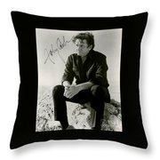 Autographed Cash Throw Pillow