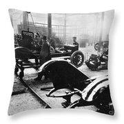 Automobile Manufacturing Throw Pillow