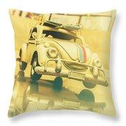 Automotive Memorabilia Throw Pillow