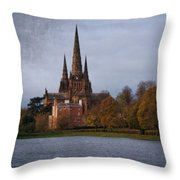 Autumn Lichfield Cathedral Throw Pillow