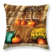 Autumn - Pumpkin - A Still Life With Pumpkins Throw Pillow