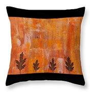 Autumn Abstract Art  Throw Pillow