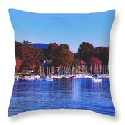 Autumn Along Lake Candlewood - Connecticut Throw Pillow