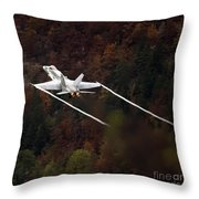 Autumn Throw Pillow by Angel  Tarantella