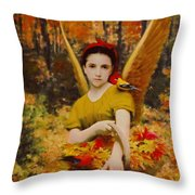 Autumn Angels Throw Pillow