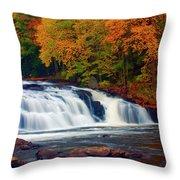 Autumn At Buttermilk Falls Throw Pillow