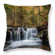 Autumn At Dunloup Creek Falls Throw Pillow