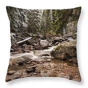 Autumn At Gore Creek - Vail Colorado Throw Pillow by Brian Harig