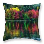 Autumn At Green Lake Seattle Throw Pillow